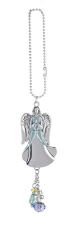 Car charm - angel blue