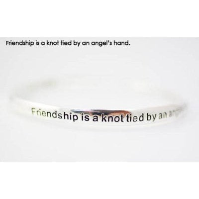 Friendship is a knot tied by an angel's hand endless bangle