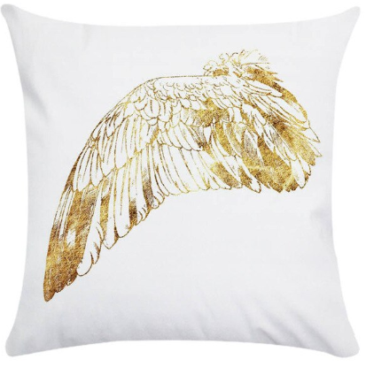 Single angel wing (left facing) pillow