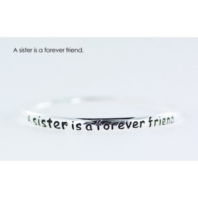 A sister is a forever friend endless bangle