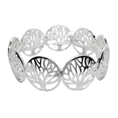 Tree of life circle stretch bracelet