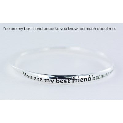 You are my best friend endless bangle
