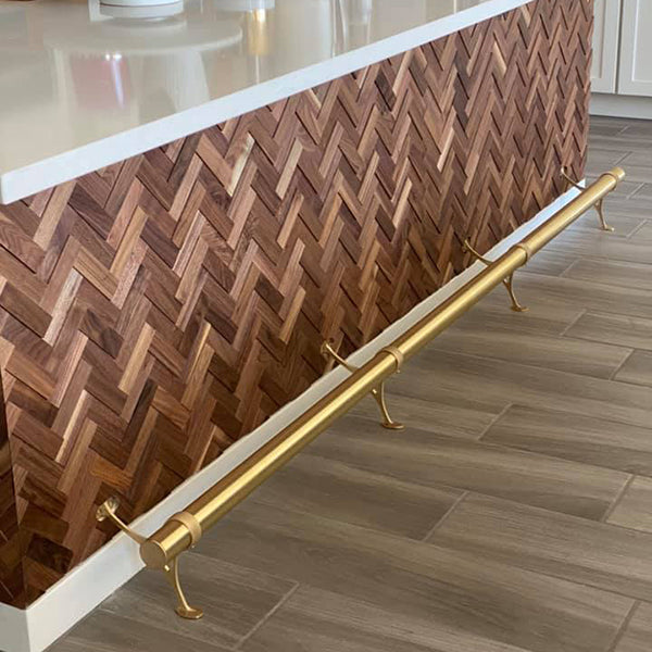 3D Natural Herringbone Walnut Walling