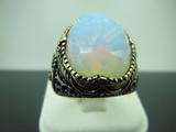 Turkish Handmade Jewelry 925 Sterling Silver Moonstone Men's Ring
