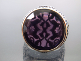 Turkish Handmade Jewelry 925 Sterling Silver Amethyst Stone Men's Ring