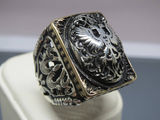Turkish Handmade Jewelry 925 Sterling Silver Eagle Design Men's Ring