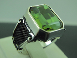 Turkish Handmade Jewelry 925 Sterling Silver Alexandrite Stone Men's Ring
