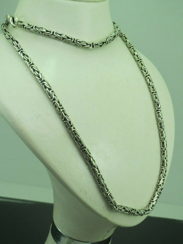 Turkish Handmade Jewelry 925 Sterling Silver King Chain Men Necklace