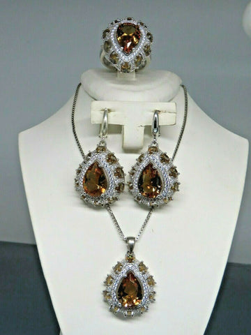 Turkish Handmade Jewelry 925 Sterling Silver Alexandrite Stone Women Earring Set