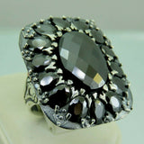 Turkish Handmade Jewelry 925 Sterling Silver Onyx Stone Men's Ring Sz 11