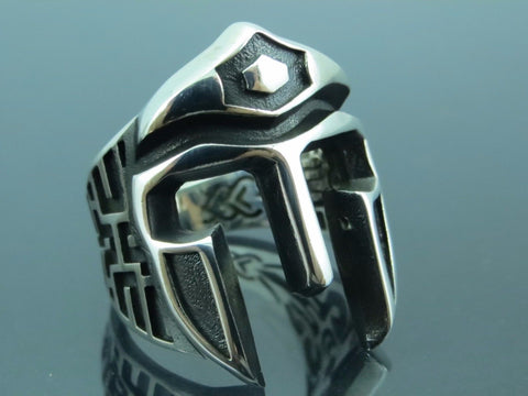 Turkish Handmade Jewelry 925 Sterling Silver Gladiator Desing Men Ring