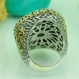 Turkish Handmade Jewelry 925 Sterling Silver Malachite Stone Men Ring Sz 11