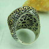 Turkish Handmade Jewelry 925 Sterling Silver Onyx Stone Men Ring Sz 12