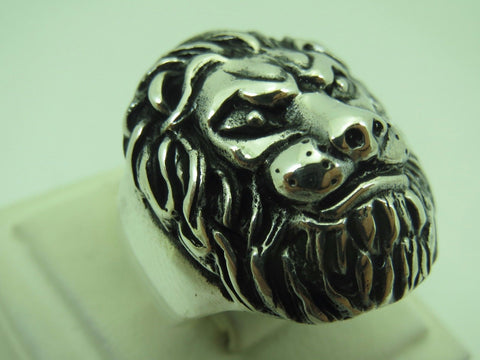 Turkish Handmade Jewelry 925 Sterling Silver Lion Design Men's Ring