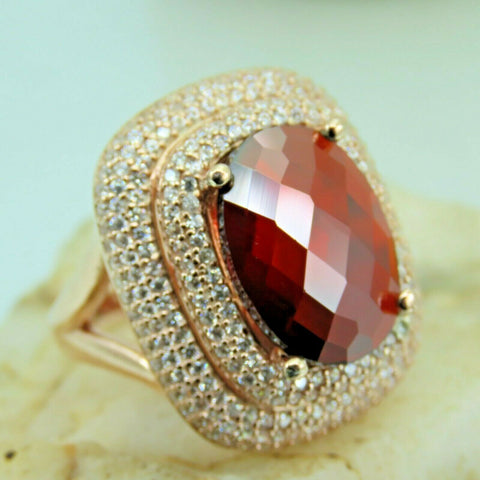Turkish Handmade Jewelry 925 Sterling Silver Ruby Stone Women Ring Sz 8