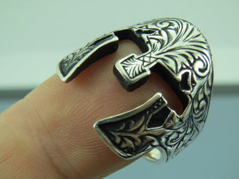 Turkish Handmade Jewelry 925 Sterling Silver Gladiator Design Men's Ring