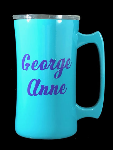 20 oz Yeti style Stainless Steel Beer Stein / Mug - Custom Powder Coated - your choice of color