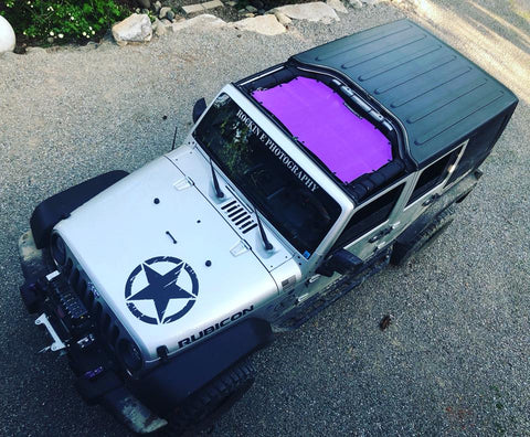 Alien Sunshade JKF Front Jeep Wrangler Sun Shade Mesh Top