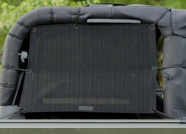 Alien Sunshade Jeep Wrangler JKS Mesh Cage Rear Side Sun Shade Pair for your 2-Door JK (2007-2017)