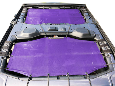 Alien Sunshade Jeep Wrangler JLU 4 Door Purple Front & Rear Combo Sun Shade Mesh Kit