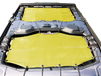 Alien Sunshade Jeep Wrangler JLU 4 Door Yellow Front & Rear Combo Sun Shade Mesh Kit