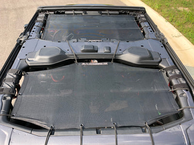 Alien Sunshade Jeep Wrangler JLU 4 Door Front & Rear Combo Sun Shade Mesh Kit