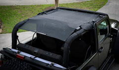 Willys Black Alien Sunshade Jeep Wrangler JK 2-Door JKFB Sun Shade Mesh Top