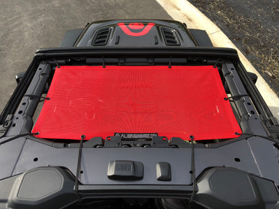 Alien Sunshade Jeep Wrangler JL Red Front Sun Shade Mesh Top