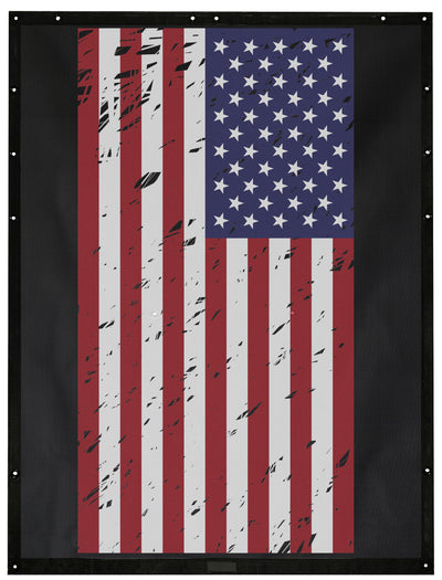 Tactical USA Flag Grunge Alien Sunshade Jeep Wrangler JK 2-Door JKFB Sun Shade Mesh Top