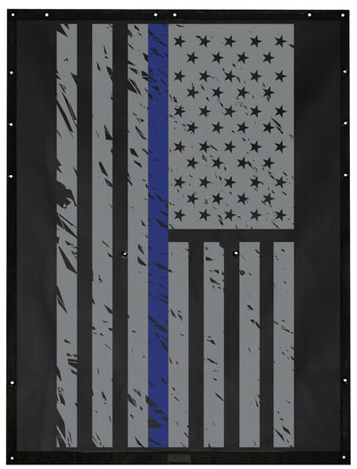 Thin Blue Line USA Tactical Flag Grunge Alien Sunshade Jeep Wrangler JK 2-Door JKFB Sun Shade Mesh Top