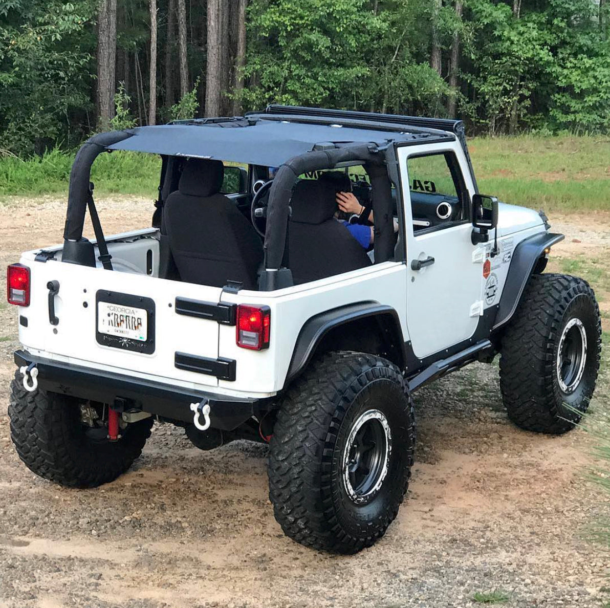 Marvelous Alien Sunshade Jeep Wrangler JKFB Sun Shade Mesh Top Covers Front U0026 Rear Of  Your 2 ...