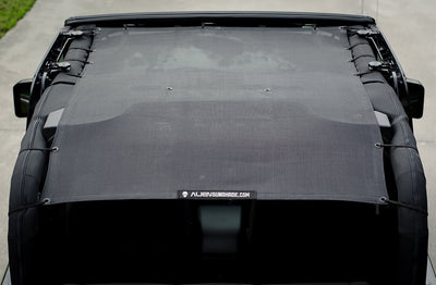 Black Alien Sunshade Jeep Wrangler JK 2-Door JKFB Sun Shade Mesh Top