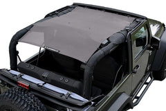 Gray Alien Sunshade Jeep Wrangler JK 2-Door JKFB Sun Shade Mesh Top
