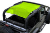 Gecko Green Alien Sunshade Jeep Wrangler JK 2-Door JKFB Sun Shade Mesh Top