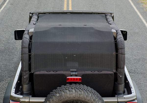 Alien Sunshade JKFBL Extra Long Jeep Wrangler Sun Shade - Front, Back, Cargo Area 2-Dr JK (07-17)