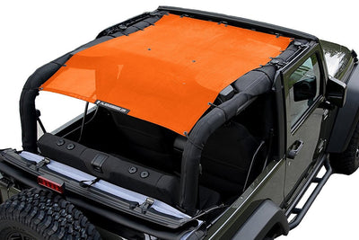 Orange Alien Sunshade Jeep Wrangler JK 2-Door JKFB Sun Shade Mesh Top
