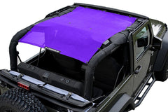 Purple Alien Sunshade Jeep Wrangler JK 2-Door JKFB Sun Shade Mesh Top