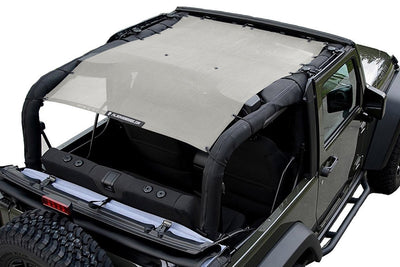 Sand Alien Sunshade Jeep Wrangler JK 2-Door JKFB Sun Shade Mesh Top