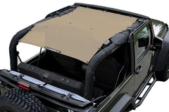 Alien Sunshade Jeep Wrangler JKFB Sun Shade Mesh Top Covers Front & Rear of Your 2-Door JK (07-18)