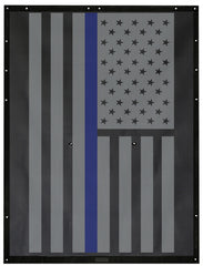 Thin Blue Line USA Flag Alien Sunshade Jeep Wrangler JK 2-Door JKFB Sun Shade Mesh Top