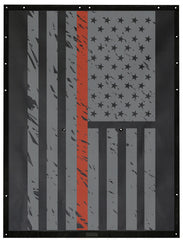 Thin Orange Line USA Flag Alien Sunshade Jeep Wrangler JK 2-Door JKFB Sun Shade Mesh Top