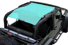 Gift Blue Alien Sunshade Jeep Wrangler JK 2-Door JKFB Sun Shade Mesh Top