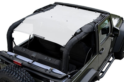 White Alien Sunshade Jeep Wrangler JK 2-Door JKFB Sun Shade Mesh Top