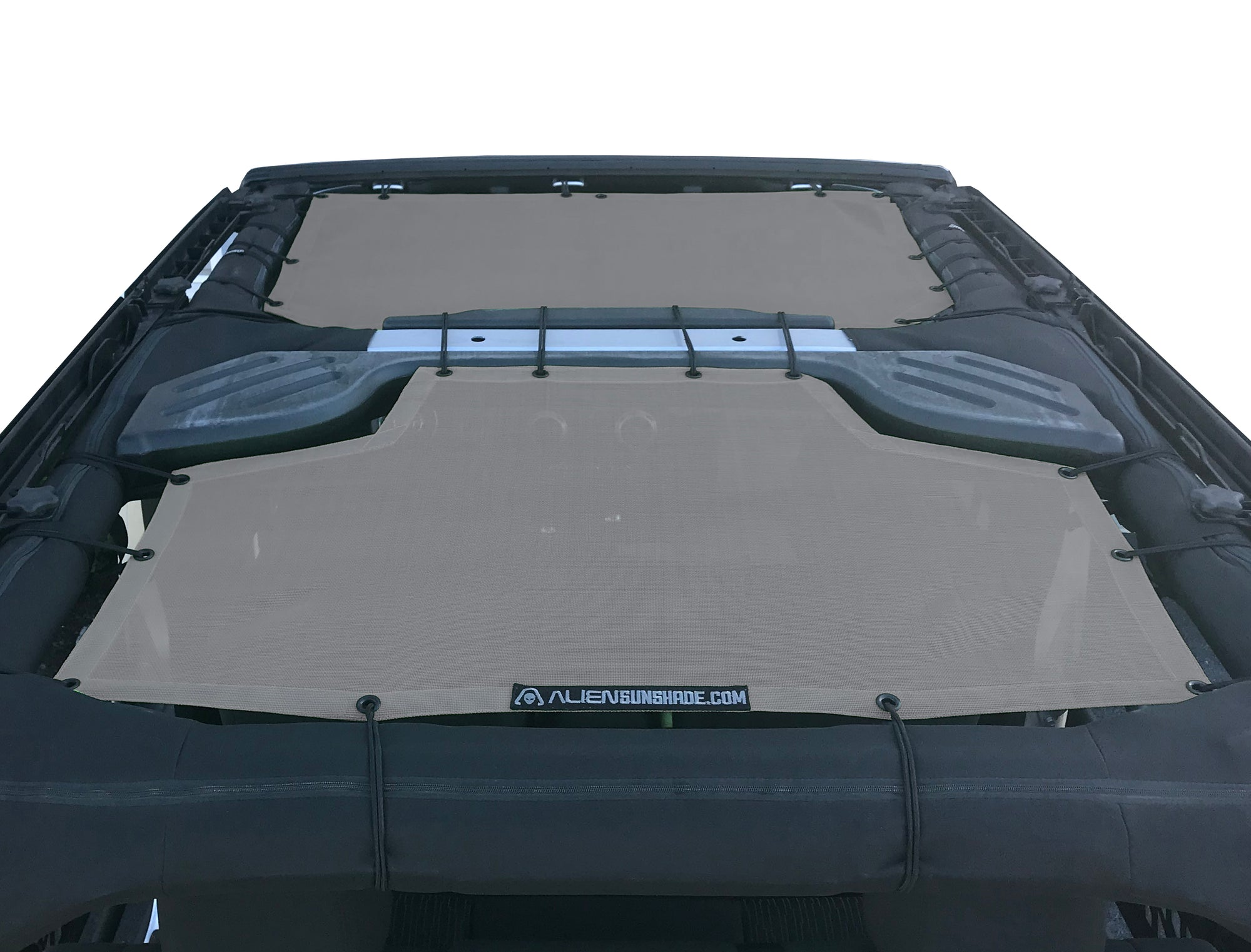 Alien Sunshade Jeep Wrangler Front & Rear Passengers Mesh Sun Shade Top Cover for 4-Door JKU (07-18)