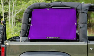 Alien Sunshade Jeep Wrangler JKS Mesh Cage Rear Side Sun Shade Pair for your 2-Door JK (2007-2018)
