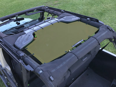 Alien Sunshade Jeep Wrangler Rear Passenger Mesh Sun Shade Top Cover for 4-Door JKU (2007-2018)