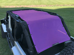 Alien Sunshade Jeep Wrangler Extra Long Full Length Mesh Sun Shade Top Cover 4-Door JKU (07-18)