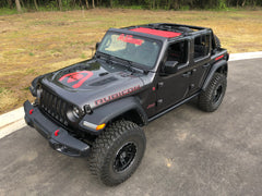 Alien Sunshade Jeep Wrangler JL Front Sun Shade Mesh Top