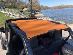 Alien Sunshade Jeep Wrangler JLU Full Length Sun Shade Mesh top for 4-Door Unlimited - 2018+ (New Body Style)