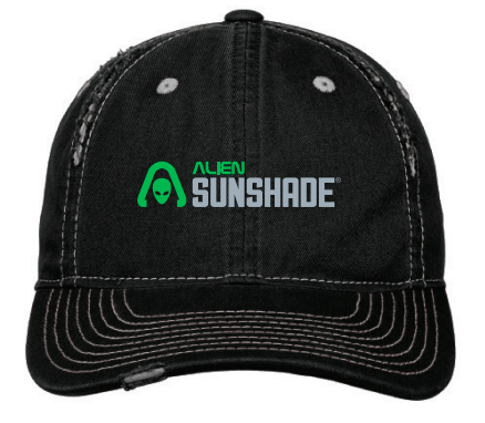 Alien Sunshade Distressed Hat